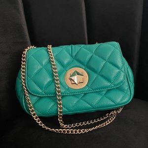 Kate Spade Quilted Leather Emerald Green Purse